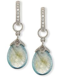 Jude Frances - Pear-shaped Labradorite Briolette Earring Charms With Diamonds - Lyst