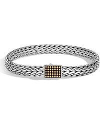 John Hardy - Men's Classic Chain Jawan Sterling Silver & 18k Gold Bracelet - Lyst