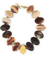Ashley Pittman - Shari Mixed Horn Petal Collar Necklace - Lyst