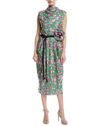 Marc Jacobs - Sequined Floral Tie-waist Cocktail Dress - Lyst