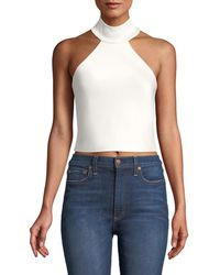 3efb6ecf74fca Lyst - Alice + Olivia Pire Embellished Crop Top in White