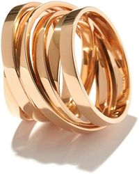 Repossi - Technical Berbère Ring In 18k Rose Gold - Lyst