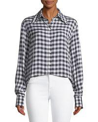 JOSEPH - Charlie Gingham Jacquard Shirt - Lyst