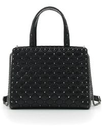 Valentino - Rockstud Spike Quilted Leather Tote Bag - Lyst