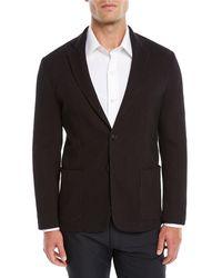 Emporio Armani - Men's Soft 3d Jersey Two-button Blazer Jacket - Lyst