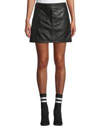 a4425d59ed Rag & Bone - Mila Leather Mini Skirt - Lyst