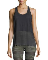 Monreal London - Scoop-neck Racerback Performance Tank - Lyst
