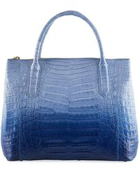 Nancy Gonzalez - Medium Double Zip Genuine Crocodile Tote - Lyst