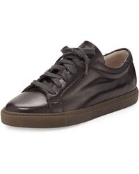 Brunello Cucinelli - Men's Leather Lace-up Trainers - Lyst