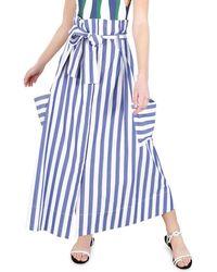 WHIT Striped High-rise Pocket Skirt