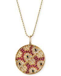 Sydney Evan - Diamond & Ruby Hamsa Medallion Necklace - Lyst