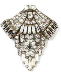 Ben-Amun - Geometric Crystal Deco Brooch - Lyst