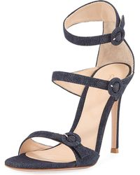 Gianvito Rossi - 105mm Three-strap Buckle Sandal - Lyst