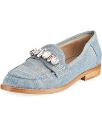 Brother Vellies - Jewel-embellished Denim Loafer - Lyst