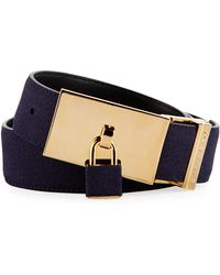 Buscemi - 100mm Padlock-buckle Nubuck Belt - Lyst
