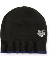 KENZO - Men's Tiger Crest Wool Beanie Hat - Lyst