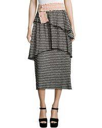 Rosie Assoulin - Mountain Range Gingham Seersucker Midi Skirt - Lyst