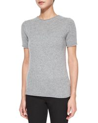 Theory | Tolleree Short-sleeve Cashmere Sweater | Lyst