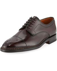 Bontoni - Brera Leather Brogue Oxford - Lyst