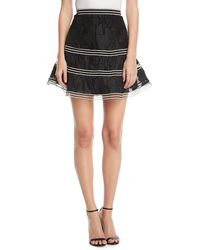 Alexis - Kamryn Embroidered Flared Skirt - Lyst