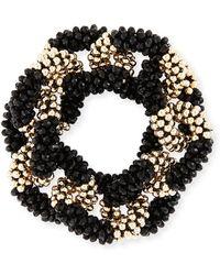 Meredith Frederick | Elsa 14k Gold & Onyx Link Bracelet | Lyst