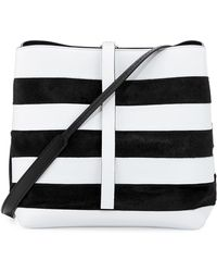 Proenza Schouler - Frame Striped Leather & Calf Hair Shoulder Bag - Lyst