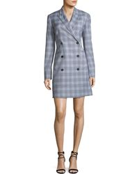 Theory - Double-breasted Maple Check Blazer Dress - Lyst