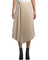 Vince - Draped Pleated Midi Skirt - Lyst