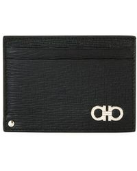 Ferragamo - Men's Revival Gancini Leather Card Case With Flip-out Id Window - Lyst