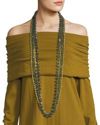 Lafayette 148 New York | Long Ombre Beaded Necklace | Lyst