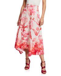 Peter Pilotto - High-rise Floral Asymmetric Skirt - Lyst