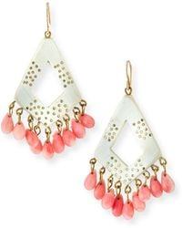 Ashley Pittman - Mashua Light Horn Drop Earrings - Lyst