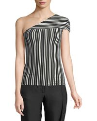 fe33b9bc704287 Beaufille - Mensa One-shoulder Striped Rib-knit Top - Lyst