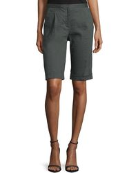 Tahari - City Slim-fit Bermuda Shorts - Lyst