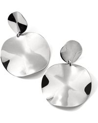 Ippolita - Small Wavy Disc Modern Snowman Clip-on Earrings - Lyst