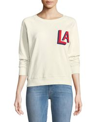 Mother - Crewneck Raglan Sweatshirt With Topstitching - Lyst