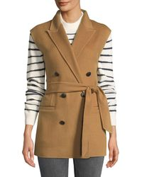 Rag & Bone - Pearson Belted Wool Double-breasted Vest - Lyst