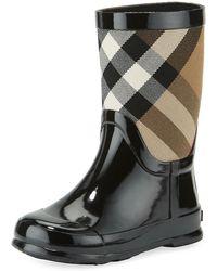 Burberry - Rainmoor Check Rubber Rainboot - Lyst
