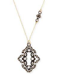 Armenta - Champagne Diamond Scroll Pendant Necklace - Lyst