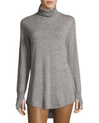 Halston Heritage   Long-sleeve Cowl-back Tunic Sweater   Lyst