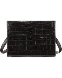 Nancy Gonzalez - Mini Square Crocodile Clutch Bag - Lyst
