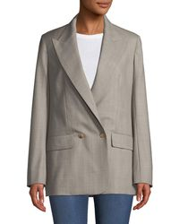 The Row - Presner Double-breasted Canvas Wool Blazer - Lyst