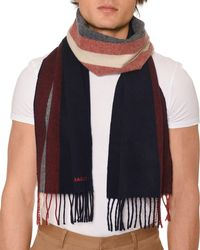 Bally - Men's Striped Fringe Scarf - Lyst
