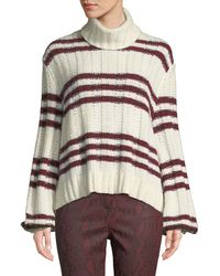 A.L.C. - Zaira Striped Turtleneck Jumper - Lyst