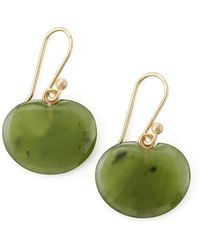 Ted Muehling - Lily Pad Jade Earrings - Lyst