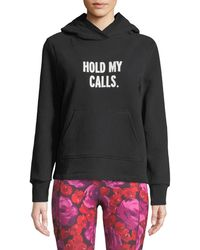 Kate Spade - Hold My Calls Cotton Hoodie - Lyst