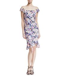 Nanette Lepore - Seductress Off-the-shoulder Floral Dress - Lyst