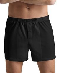 Hanro - Cotton Sporty Button Fly Boxers - Lyst