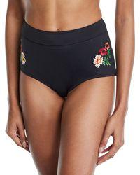 Johnny Was - Sydney High-waist Floral Bikini Swim Bottoms - Lyst