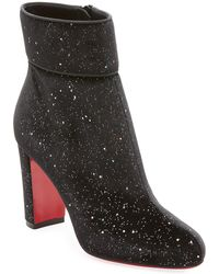 f990b8db4d3b Lyst - Christian Louboutin S.i.t. Rain Wrap Red Sole Bootie in Black